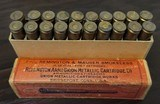 Collectible Ammo: Full Box - 20 Rounds of 7m/m Remington & Mauser Smokeless - Remington Arms Union Metallic Cartridge Co. - 175grs. Bullet - 5 of 7