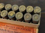 Collectible Ammo: Full Box - 20 Rounds of 7m/m Remington & Mauser Smokeless - Remington Arms Union Metallic Cartridge Co. - 175grs. Bullet - 6 of 7