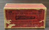 Collectible Ammo: Full Box - 50 Rounds of .25-20 Winchester Smokeless Soft Point - Winchester 96grs. for Model 1892 - 5 of 10