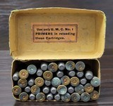Collectible Ammo: Partial Box - 41 Rounds of .44 Winchester - Union Metallic Cartridges .44-40 WCF Winchester 40grs. Powder 217 grs. Bullet - 5 of 8