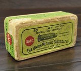 Collectible Ammo: Partial Box - 35 Rounds of .44 Winchester - Union Metallic Cartridge Co. .44 Winchester 40grs. Powder 200 gr. Bullet Black Powder - 1 of 11