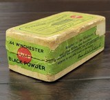 Collectible Ammo: Partial Box - 35 Rounds of .44 Winchester - Union Metallic Cartridge Co. .44 Winchester 40grs. Powder 200 gr. Bullet Black Powder - 6 of 11