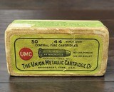 Collectible Ammo: Partial Box - 35 Rounds of .44 Winchester - Union Metallic Cartridge Co. .44 Winchester 40grs. Powder 200 gr. Bullet Black Powder - 3 of 11