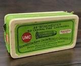Collectible Ammo: Partial Box - 19 Rounds of Remington UMC .44 Winchester Black Powder - Remington Arms Union Metallic Cartridge Co.