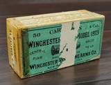 Collectible Ammo: Partial Box - 40 Rounds of Winchester Repeating Arms Co. .44 Cal WCF Central Fire Solid Head for Model 1873