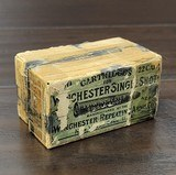 Collectible Ammo: Partial Box - 49 Rounds of Winchester Repeating Arms Co. .22 Winchester Single Shot Solid Head .22 WCF