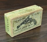 collectible ammo: full box50 rounds of winchester repeating arms co. .38 caliber / .38 s.&w. c.f.solid head