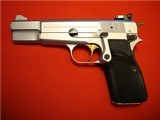 BELGIUM BROWNING HI-POWER 9mm 1982 SILVER CHROME ****NEW IN POUCH**** - 2 of 13