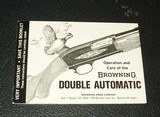 BROWNING Double Automatic manual and envelope