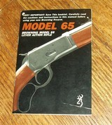 BROWNING Model 65 rifle owner's manual