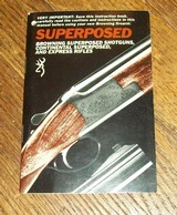 Genuine original manual for BROWNING Superposed, Continental Superposed, Express rifles
