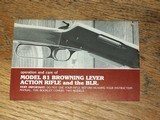 Original factory BROWNING owner's manual for Model 81 and the BLR