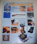 LYMAN full size color catalog from 1992