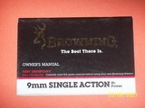 Browning manual for 9mm Single Action Hi Power pistol,