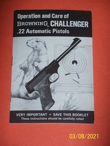 Browning manual for Challenger 22 pistol