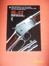 Browning manual for BL- 22 rifle
