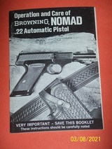 Browning manual for NOMAD 22 pistol