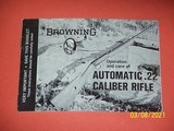 Browning manual for Automatic 22 rifle
