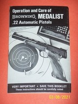 Browning manual for MEDALIST 22 pistols