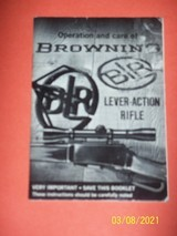 Browning manual for BLR rifle