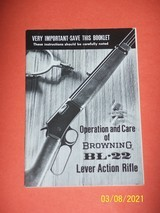 Browning manual for BL-22 rifle