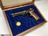 Limited Edition- Beretta Model 92EL NRA Commemorative Semi-Automatic Pistol in glass display case