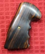 S & W N Frame Square Butt Wood Revolver Grips