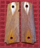 Colt or 1911 Full Size Wood Double Diamond Checkered Grip
