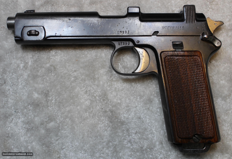 Steyr-Hahn M1912 9mm Steyr Semi Pistol