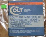 Original Factory Colt Series MK IV 80 Pistols Manual NOT a Reproduction