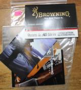 Original Factory Browning Hi-Power 9mm & 40 S&W Single Action Pistol Manual NOT a Reproduction