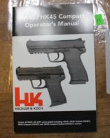 Original Factory Heckler & Koch HK45/HK45 Compact Operator's Manual NOT a Reproduction