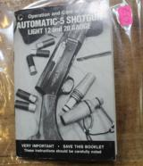Original Factory Browning Automatic-5 Shotgun Manual NOT a Reproduction