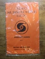 Original Factory Military Armament Corp MAC Submachine Gun Manual NOT a Reproduction