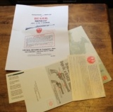 Original Factory Ruger Mini-14 .223 (5.56) Rifle Manual NOT a Reproduction w other paperwork