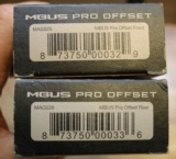 Magpul Pro Offset Iron Sights Angled 45 Degree BUIS Front and Rear Sight Set MBUS MAG525 MAG526 - 2 of 4