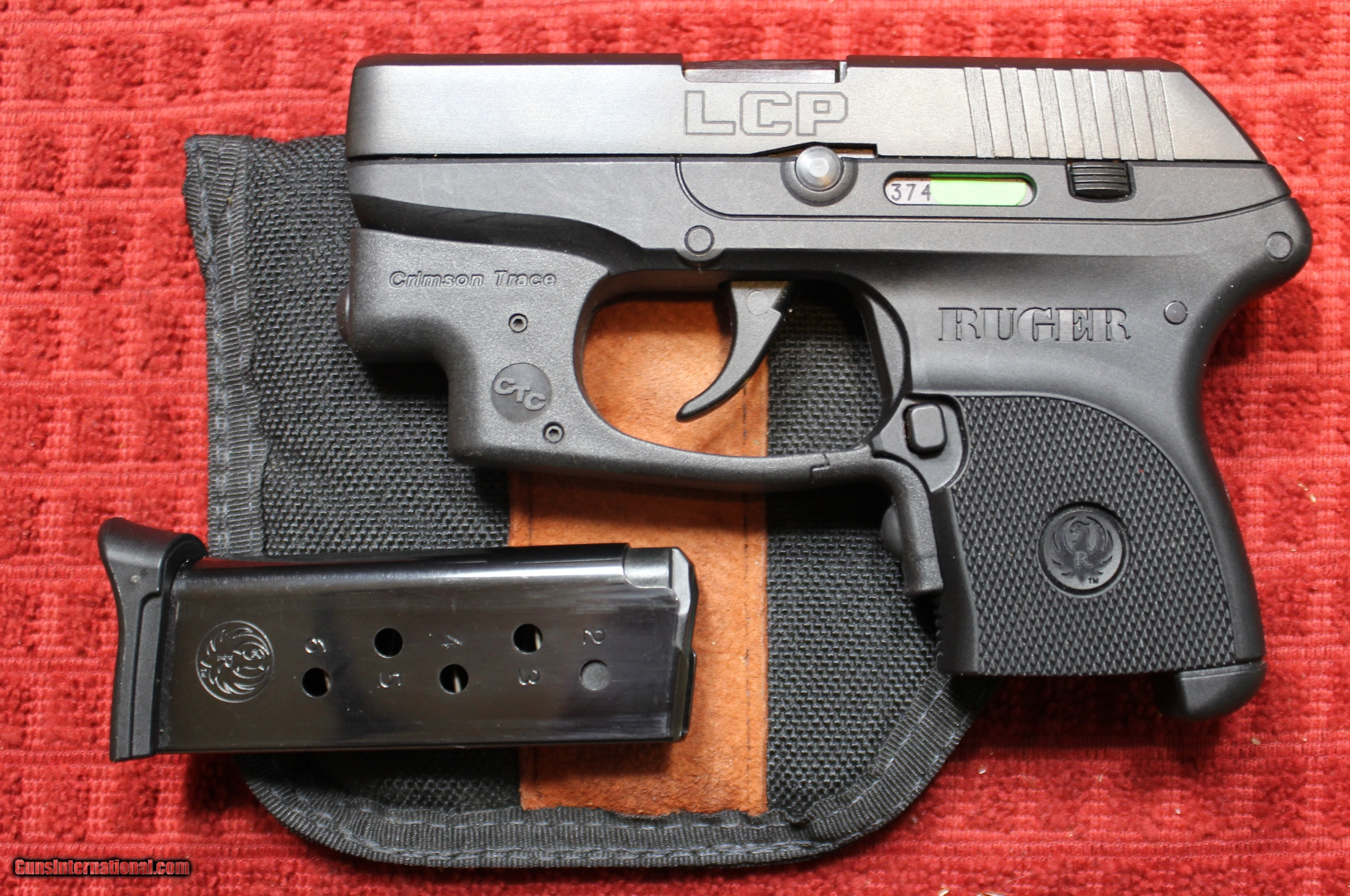 Ruger LCP  380 9mm Kurtz with Crimson Trace, One Magazine