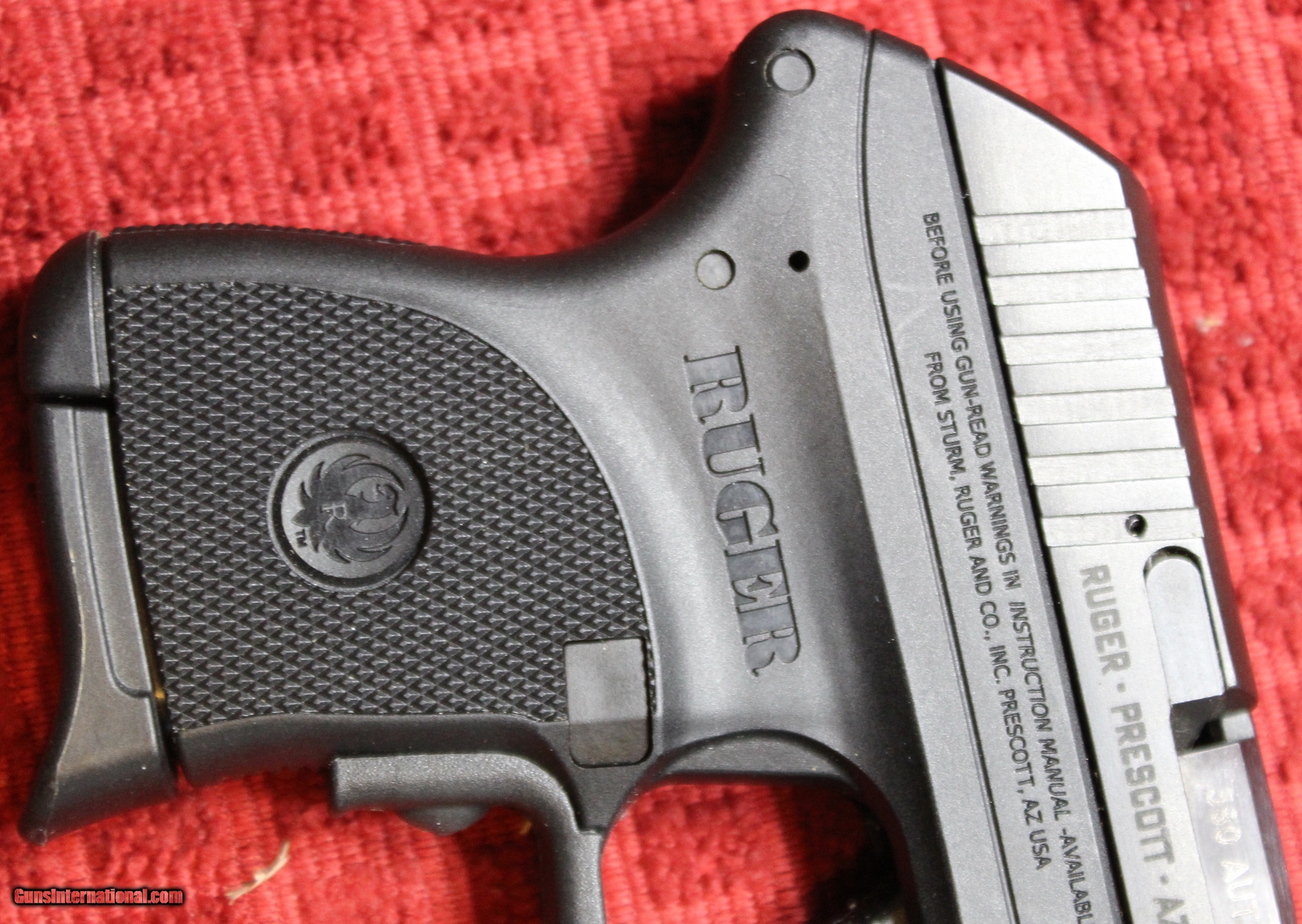 Ruger LCP  380 9mm Kurtz with Crimson Trace, One Magazine, and