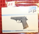 Original Factory Walther PP PPK Manual NOT a reproduction