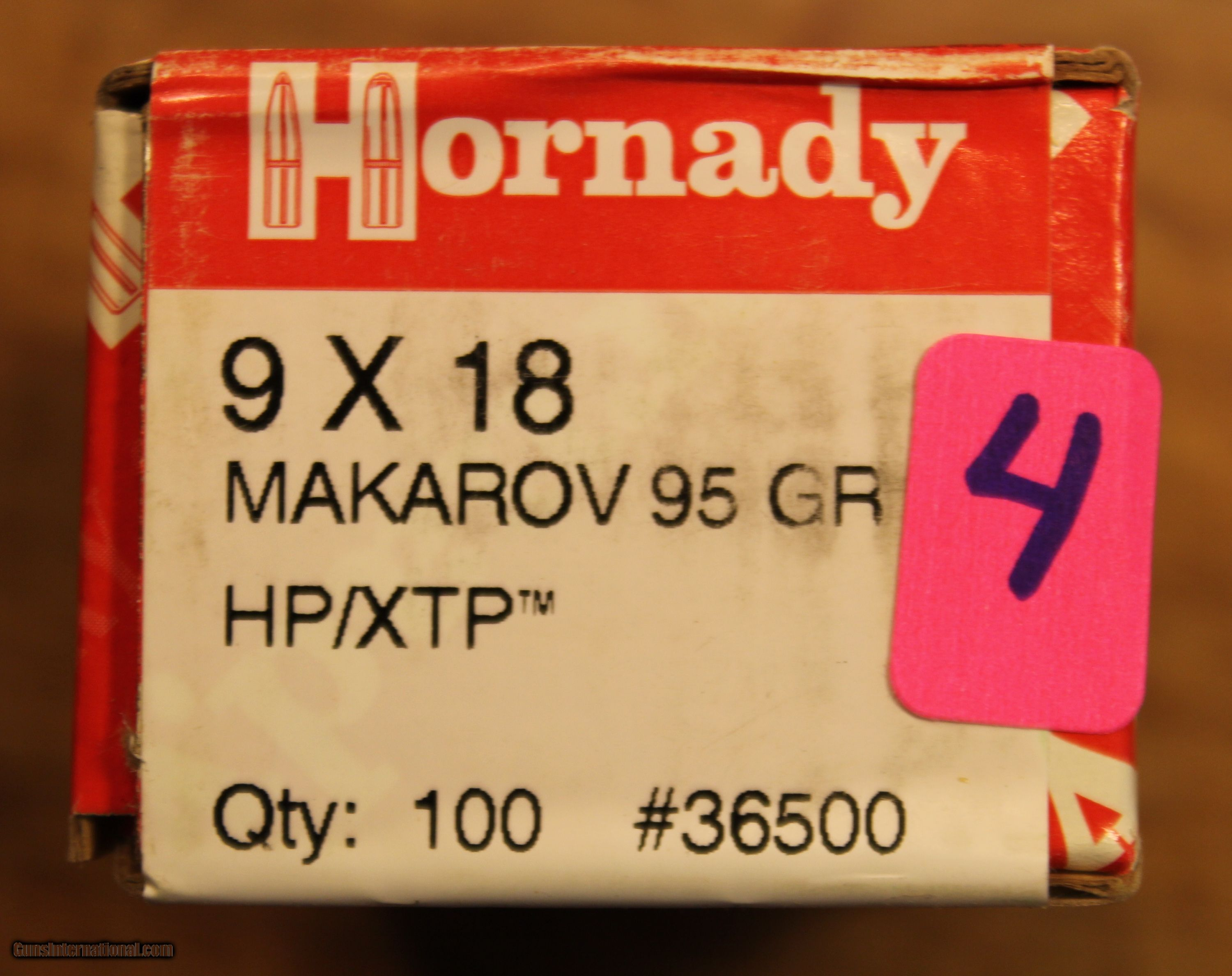 Two (2) Boxes of 100 count 9x18 Makarov Bullets Hornady Bullets 95