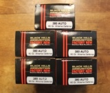 100 rounds of Black Hills 380 Auto 60 Grain Extreme Defense Handgun or Pistol Ammunition