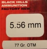 100 rounds of Black Hills 5.56mm 77 Grain OTM Open Tip Match Rifle Ammunition - 2 of 6