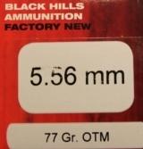 100 rounds of Black Hills 5.56mm 77 Grain OTM Open Tip Match Rifle Ammunition - 2 of 6