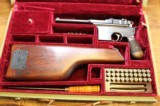 """""""Astra"""" Automatic Pistol Cal 7.63 (Broomhandle) with fitted case, Wood Shoulder Stock Holster - 2 of 25"""