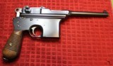 """""""Astra"""" Automatic Pistol Cal 7.63 (Broomhandle) with fitted case, Wood Shoulder Stock Holster - 11 of 25"""
