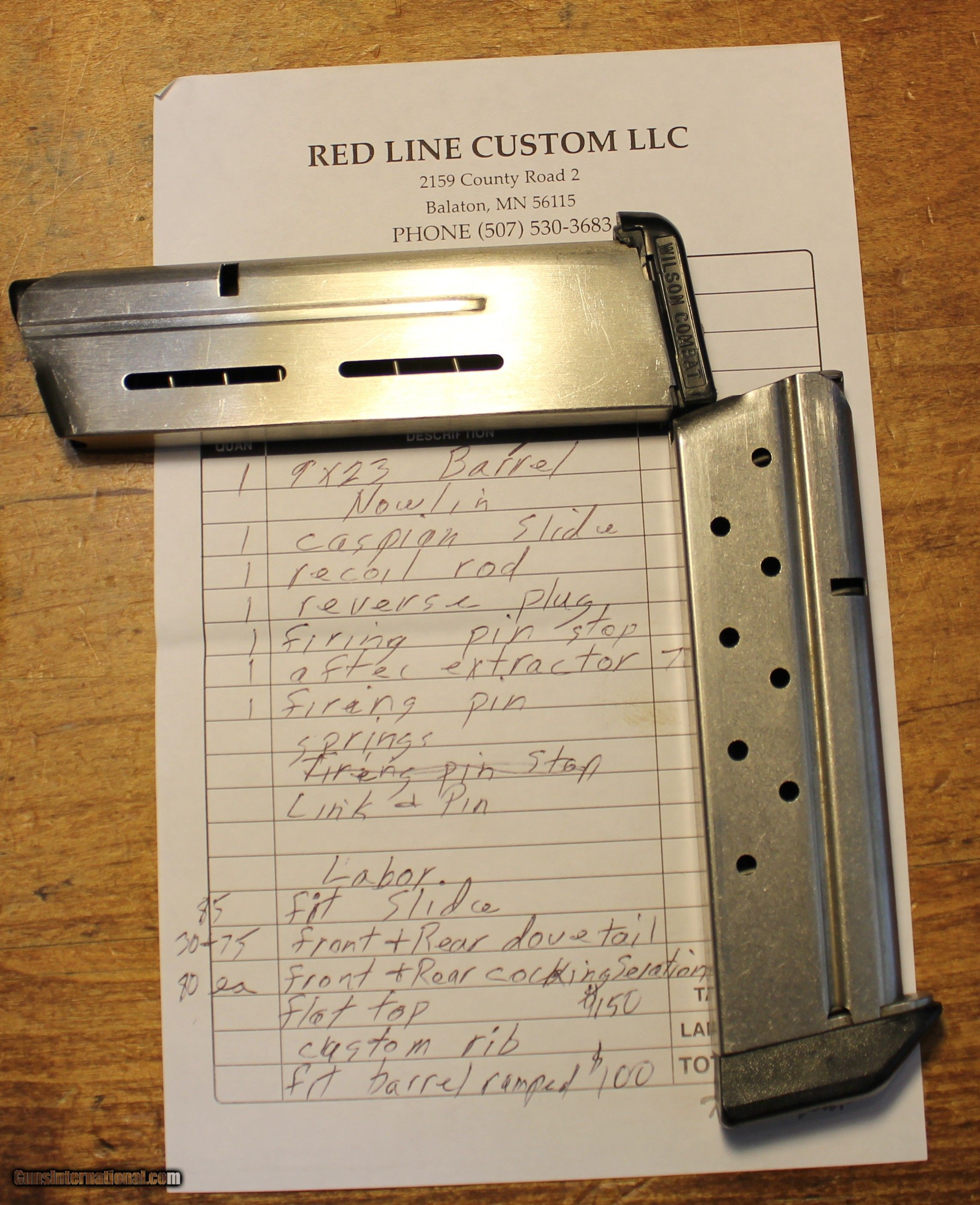 Red Line Custom 1911 In 9x23 Full Size Rail