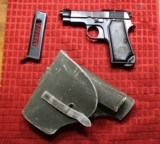 Beretta 1934 Made 1938 380 w Italian Army Holster