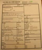 Winchester M1 Garand April 43 Original CollectorWRA/GHD Small Ordinance Wheel. See Data Sheet - 3 of 25