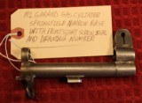Springfield Armory M1 M-1 Garand Numbered Gas Cylinder with Front Sight Seal