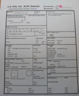 Harrington & Richardson M1 Garand See Data Sheets HRA CMP Certificate Original TE 3.0 MW 1.0 30.06 - 2 of 25